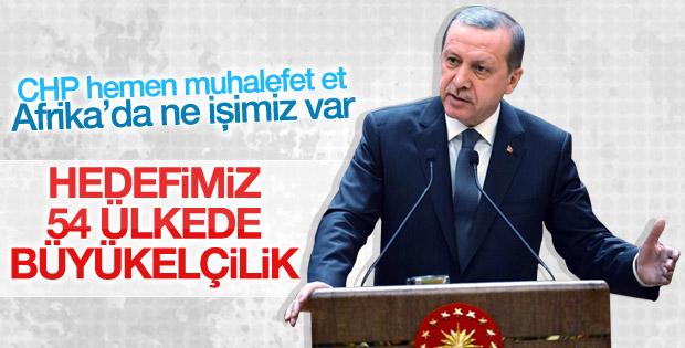 Erdoğan Afrika'daki büyükelçilik hedefini açıkladı