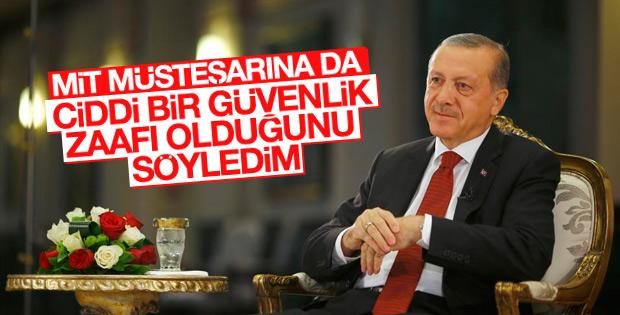 Cumhurbaşkanı Erdoğan'ndan MİT açıklaması