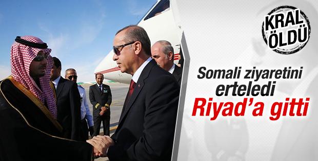 Cumhurbaşkanı Erdoğan Suudi Arabistan'a gitti
