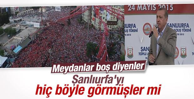 Cumhurbaşkanı Erdoğan Şanlıurfa'da konuştu