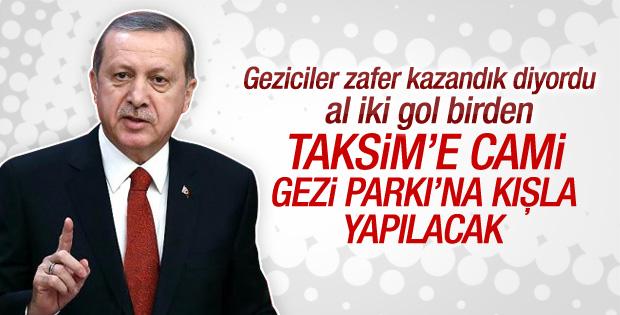 Erdoğan: Gezi Parkı'na o tarihi eseri kazandıracağız