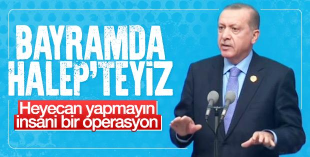Erdoğan Rusya ile Halep'e operasyonun sinyalini verdi