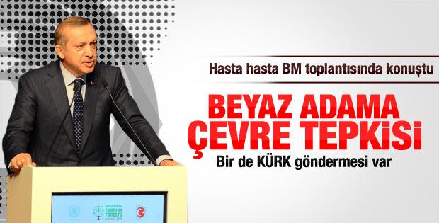 Erdoğan'dan kürk giyenlere eleştiri