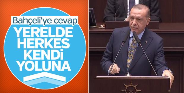 Bahçeli'nin ittifak sözlerine Erdoğan'dan cevap