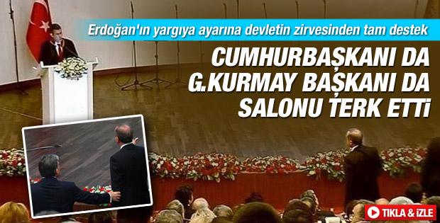 Abdullah Gül ve Necdet Özel de Danıştay'ı terk etti İZLE