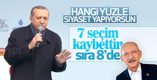 Erdoğan: Kılıçdaroğlu hangi yüzle siyaset yapıyorsun