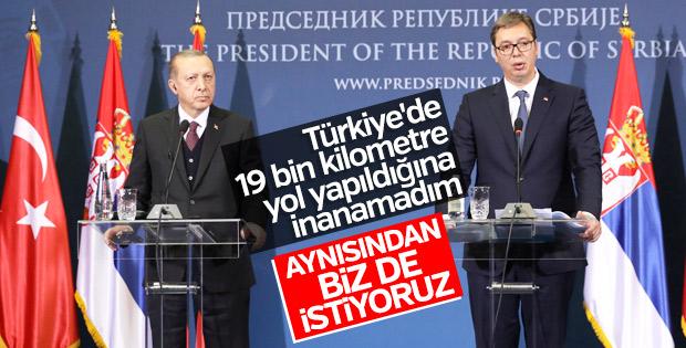Erdoğan ve Vucic ortak basın toplantısı düzenledi