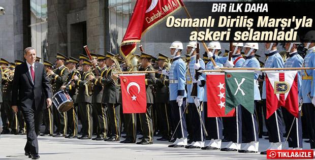 Cumhurbaşkanı'na Osmanlı Diriliş Marşı ile karşılama İZLE
