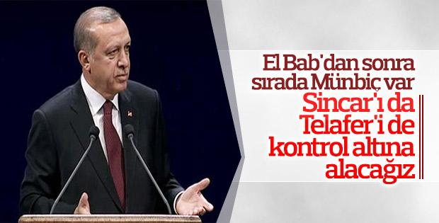 Cumhurbaşkanı Erdoğan: Münbiç'e doğru gideceğiz