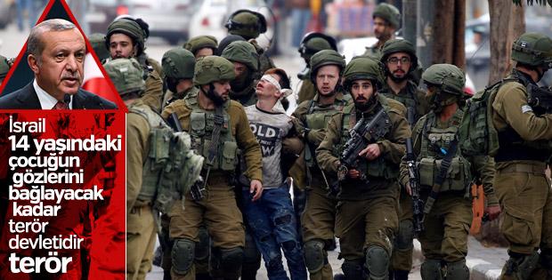 Erdoğan: İsrail askerleri 14 yaşındaki çocuğu sürüklüyor