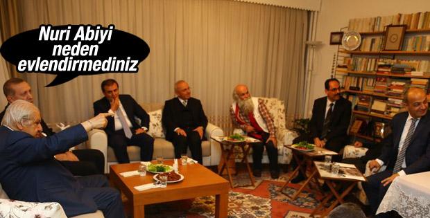 Erdoğan'dan Nuri Pakdil'e sürpriz ziyaret