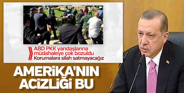 Erdoğan ABD'nin Türk korumalara dava açmasını eleştirdi