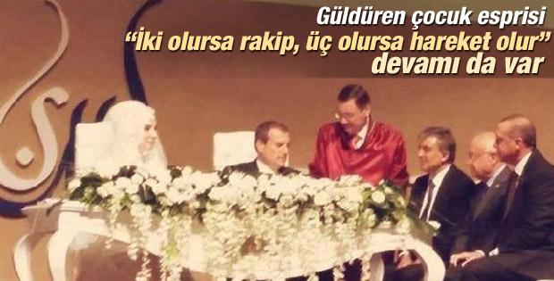 Başbakan Erdoğan'dan gülümseten çocuk önerisi