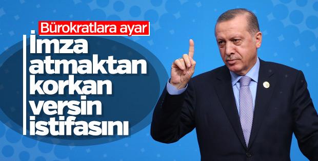 Cumhurbaşkanı Erdoğan'dan bürokratlara ayar