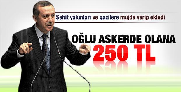 Erdoğan'dan asker ailelerine maaş müjdesi