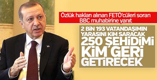 Cumhurbaşkanı Erdoğan: 250 şehidimi kim geri getirecek