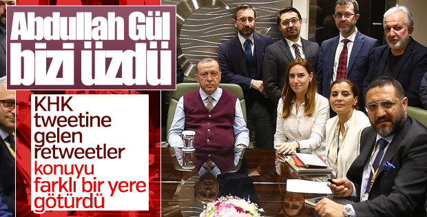 Erdoğan'dan Gül'ün KHK tweeti hakkında ilk açıklama