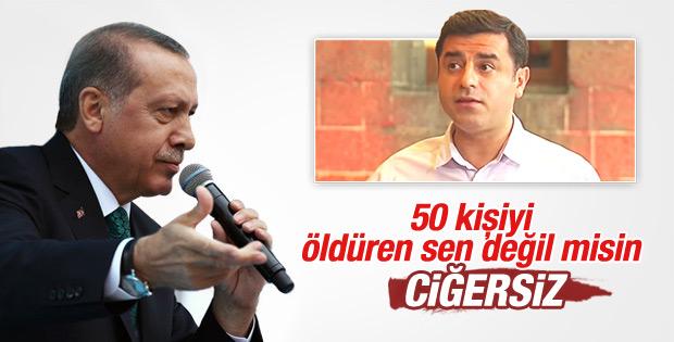 Cumhurbaşkanı Erdoğan'dan Demirtaş'a: Sende ciğer yok