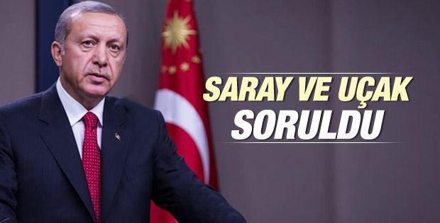 Erdoğan'dan Cumhurbaşkanlığı Sarayı açıklaması