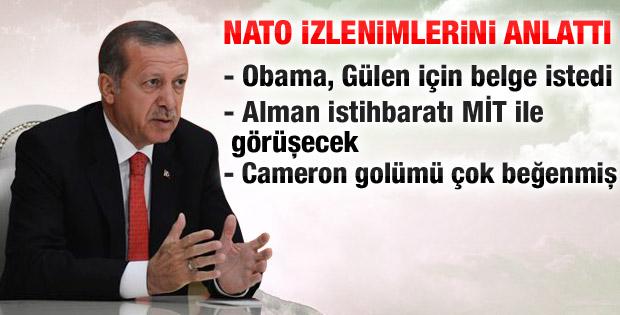 Erdoğan Obama ile görüşmesinin ayrıntılarını paylaştı