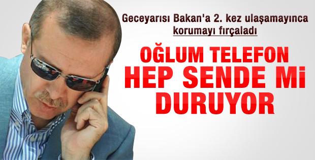Erdoğan'dan bakanın korumasına telefon fırçası