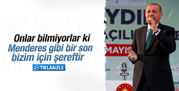 Cumhurbaşkanı Erdoğan'ın Aydın konuşması