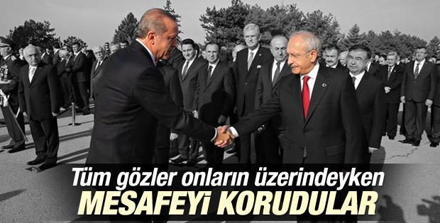 Erdoğan ile Kılıçdaroğlu aradaki mesafeyi korudu