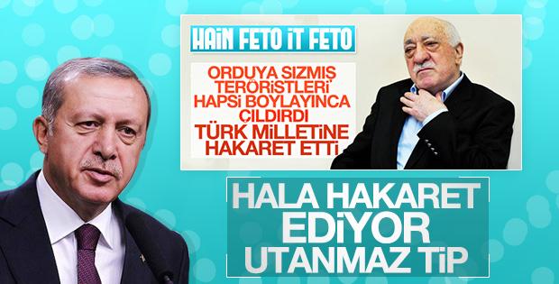 Türk halkına hakaret eden FETÖ'ye Erdoğan cevap verdi