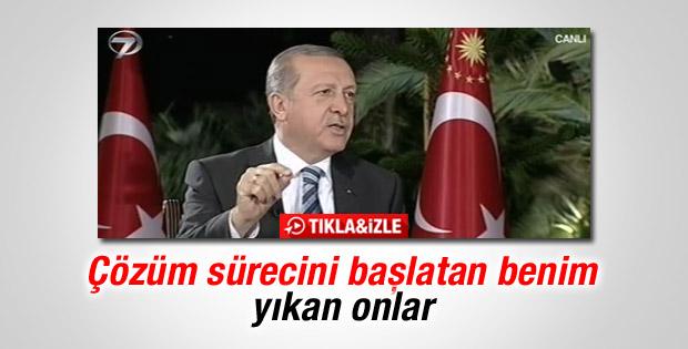Erdoğan: Çözüm sürecini ben başlattım onlar yıktı