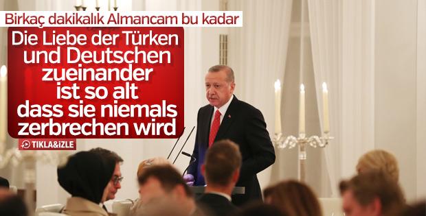 Başkan Erdoğan'dan Almanca jest