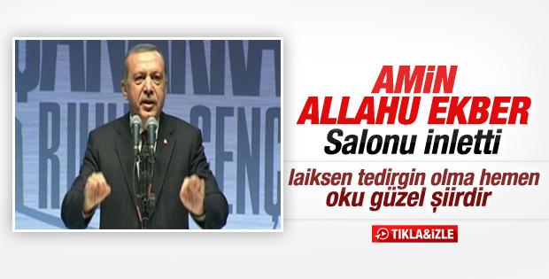 Erdoğan Mehmet Akif'in Ordunun Duası şiirini okudu