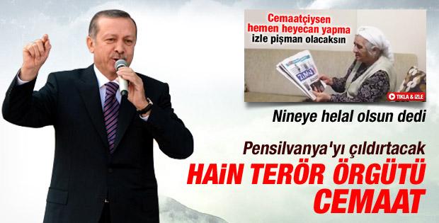 Erdoğan Cemaat'e ilk kez terör örgütü dedi İZLE