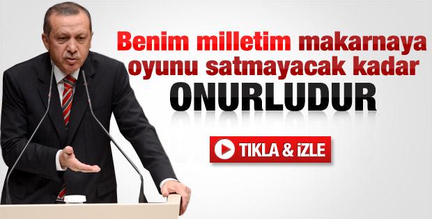 Erdoğan: Milletim bir paket makarnaya oyunu satmaz - izle