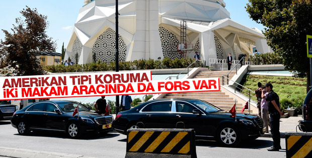 Erdoğan'a ikiz makam aracıyla koruma