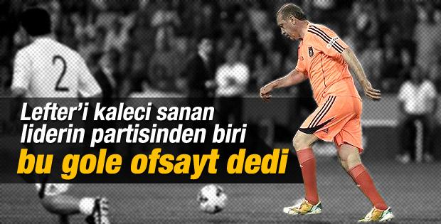 CHP'li vekil Erdoğan'ın gollerini eleştirdi