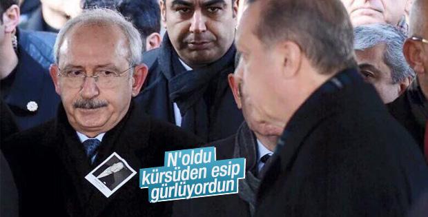 Koç'un cenazesinde Kılıçdaroğlu'nun Erdoğan'a komik bakışı