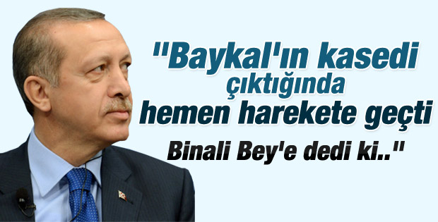 Kuzu Başbakan'ın Baykal kasedine olan tavrını anlattı