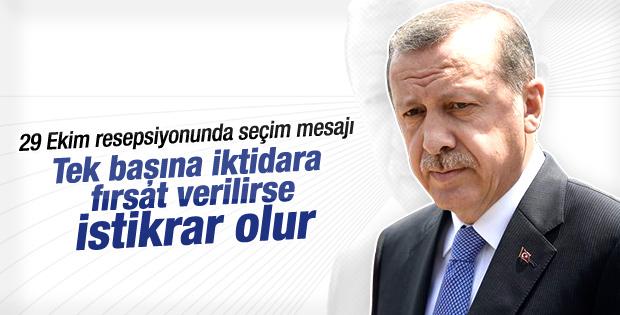 Erdoğan'ın resepsiyon açıklamaları
