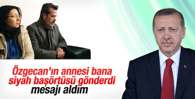 Özgecan'ın ailesi Erdoğan'a siyah başörtüsü gönderdi