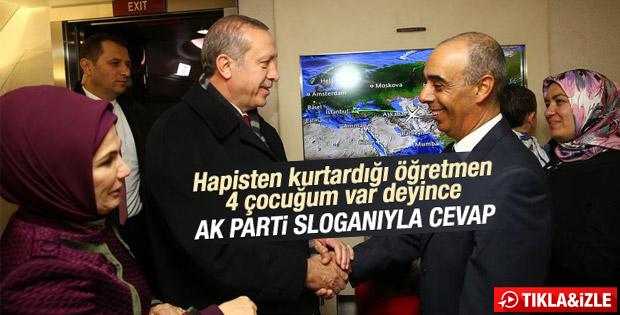 Erdoğan'dan 4 çocuğu olan öğretmene cevap