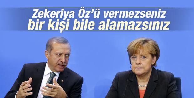 Erdoğan'dan Almanya'ya Zekeriya Öz mesajı