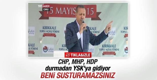 Cumhurbaşkanı Erdoğan'dan muhalefete YSK yanıtı