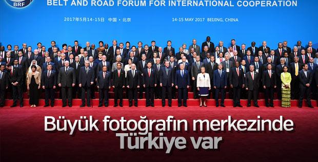 Erdoğan'dan Çin'de liderlerle aile fotoğrafı