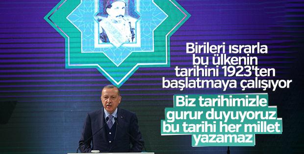 Erdoğan: Osmanlı ve Cumhuriyeti zıt görmemeliyiz