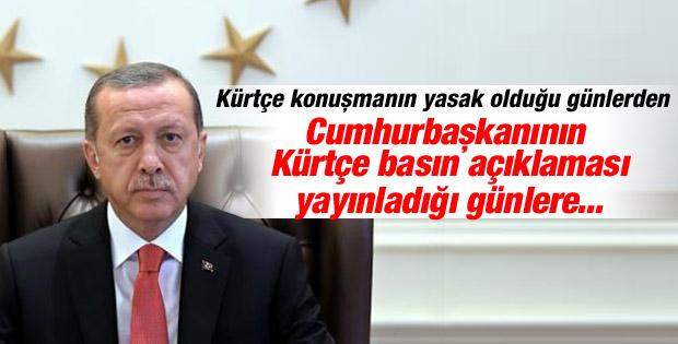 Cumhurbaşkanı Erdoğan'dan Kürtçe Süleyman Şah açıklaması
