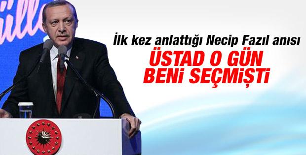 Erdoğan Necip Fazıl ile olan anısını anlattı