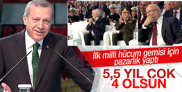 Erdoğan amfibi hücum gemisinin bitiş tarihini öne çekti