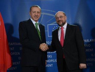 Erdoğan ve AP Başkanı Schulz'un basın toplantısı