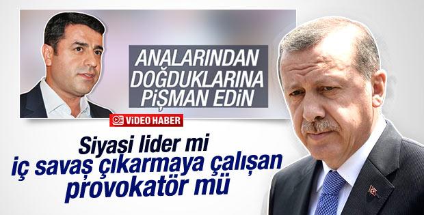 Cumhurbaşkanı Erdoğan'dan Demirtaş'a sert yanıt