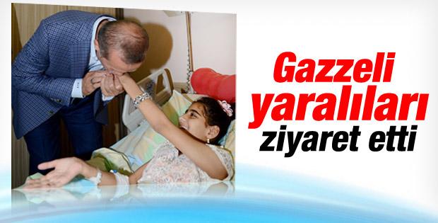 Erdoğan Gazzeli yaralıları ziyaret etti